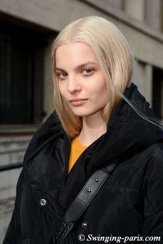 Nastya Zhuleva outside Miu Miu show, Paris FW 2019 RtW Fashion Week, March 2019