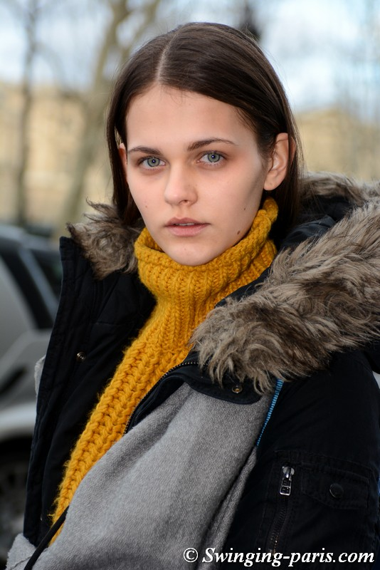 Nike Fortmann leaving Beautiful People show, Paris FW 2019 RtW Fashion Week, March 2019