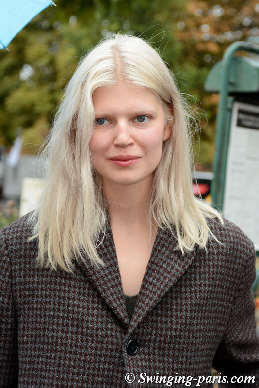 Ola Rudnicka leaving Chanel show, Paris S/S 2020 RtW Fashion Week, October 2019