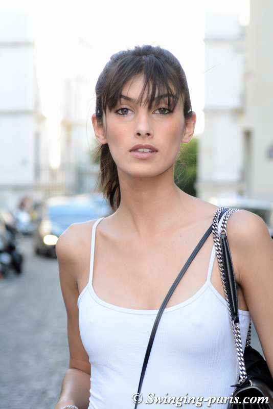 Rossana Latallada outside Zuhair Murad show, Paris F/W 2019 Haute Couture Fashion Week, July 2019