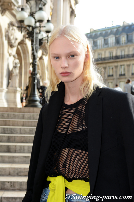 Vilma Sjoberg leaving Stella McCartney show, Paris S/S 2020 RtW Fashion Week, September 2019
