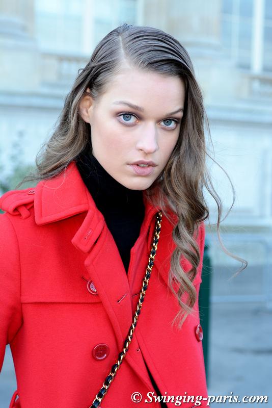 Cosima Fritz leaving Chanel show, Paris Haute Couture SS 2020 Fashion Week, January 2020
