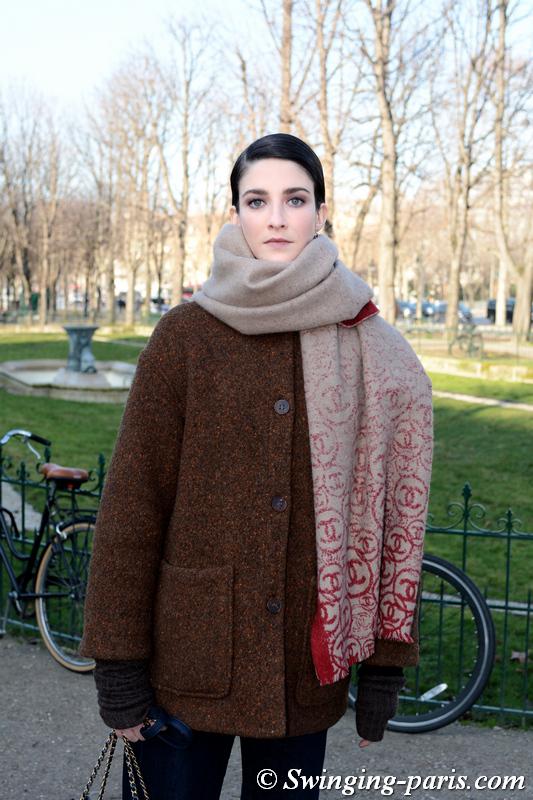 Cristina Herrmann leaving Chanel show, Paris SS 2020 Haute Couture Fashion Week, January 2020