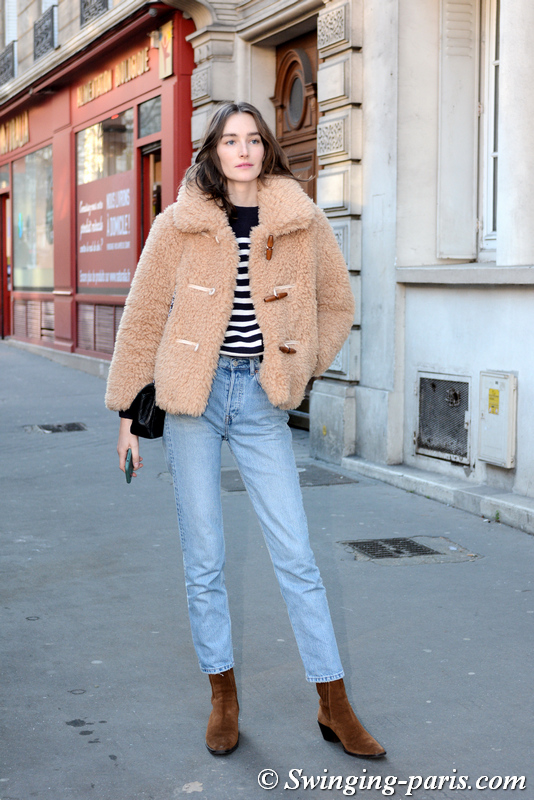 Joséphine Le Tutour leaving Julie de Libran show, Paris SS 2020 Haute Couture Fashion Week, January 2020