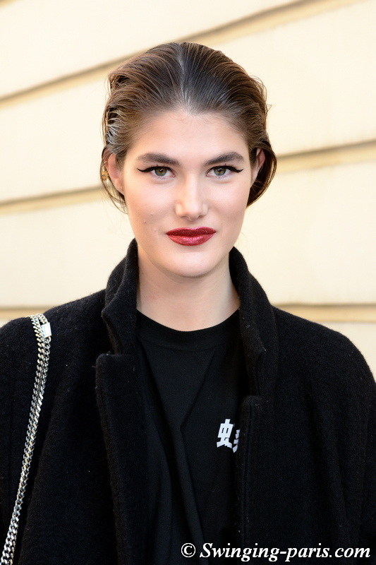 Lucia Lopez outside Alexis Mabille show, Paris Haute Couture SS 2020 Fashion Week, January 2020