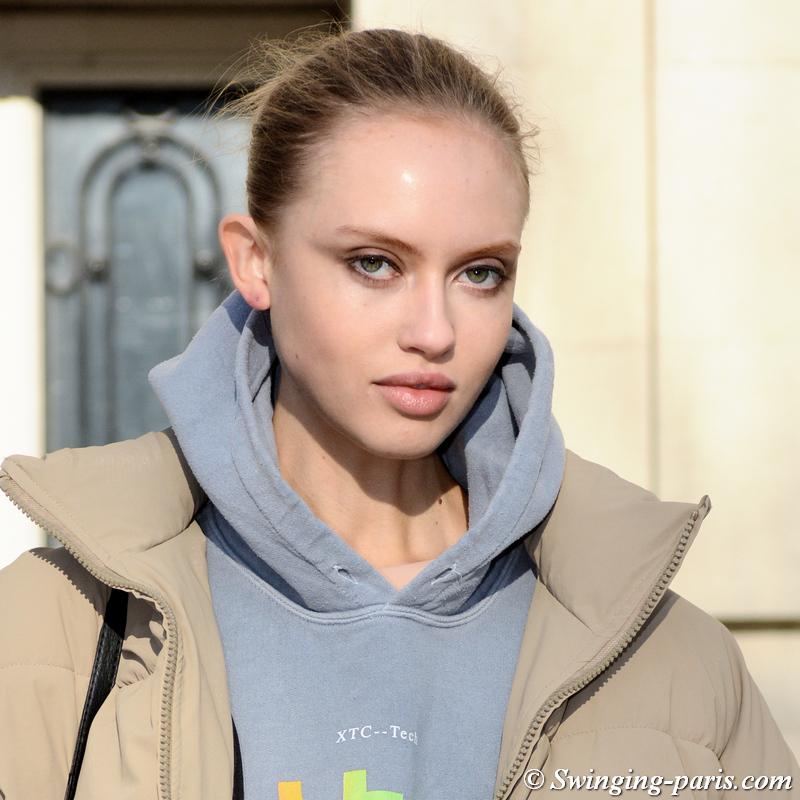 Lulu Reynolds leaving Elie Saab show, Paris SS 2020 Haute Couture Fashion Week, January 2020