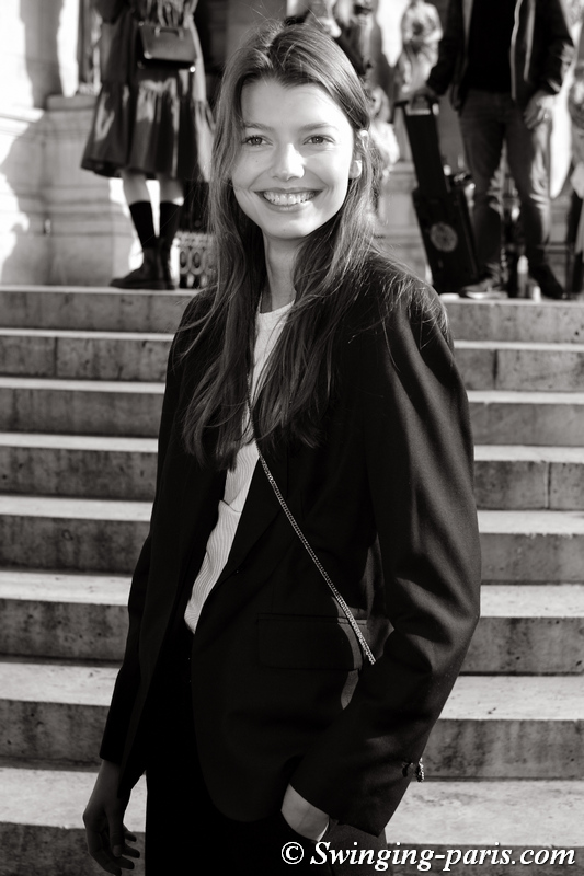 Mathilde Henning leaving Stella McCartney show, Paris S/S 2020 RtW Fashion Week, September 2019