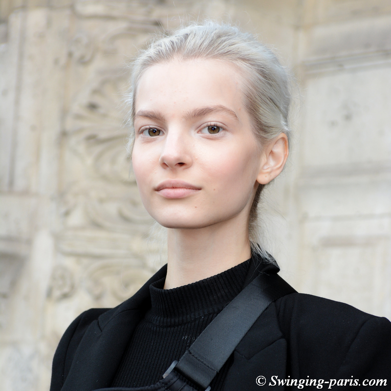 Nastya Zhuleva outside Beautiful People show, Paris S/S 2020 RtW Fashion Week, September 2019