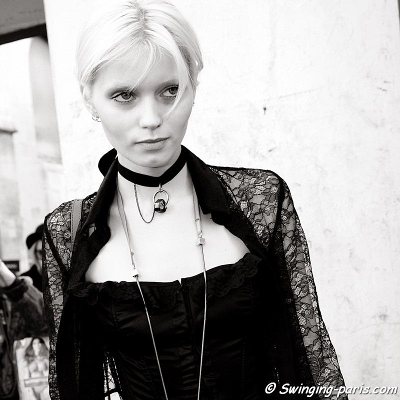 Abbey Lee Kershaw leaving Isabel Marant show, Paris Fashion Week, March 2011