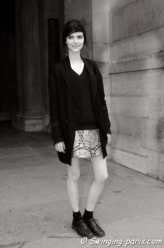 Agnes Nabuurs outside Louis Vuitton show, Paris S/S 2013 RtW Fashion Week, October 2012
