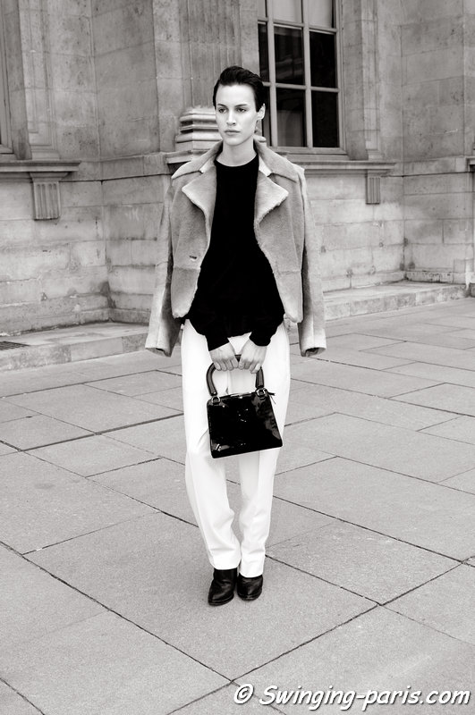 Alana Bunte leaving Louis Vuitton show, Paris F/W 2013 RtW Fashion Week, March 2013