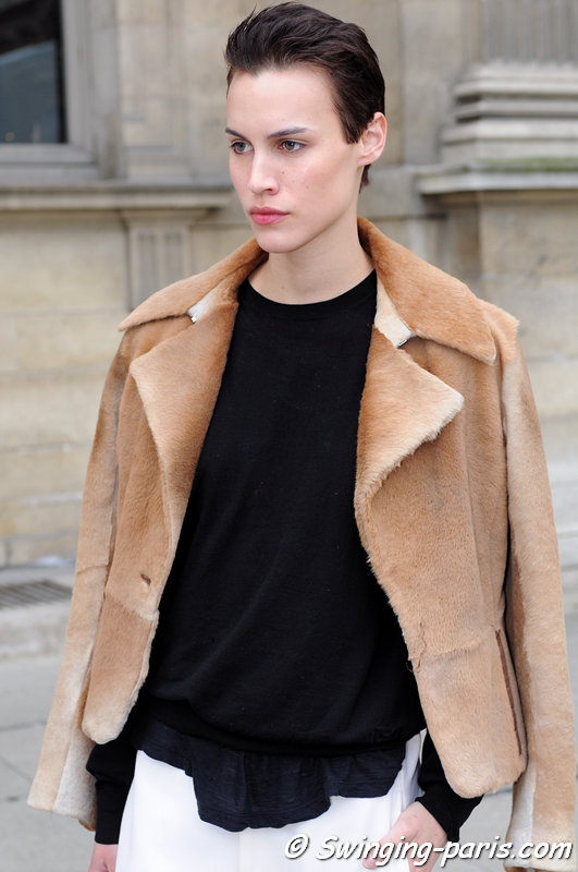 Alana Bunte leaving Louis Vuitton show, Paris F/W 2013 RtW Fashion Week, March 2013
