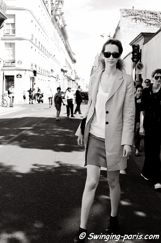 Alana Zimmer outside Christian Dior show, Paris Haute Couture F/W Fashion Week, July 2011