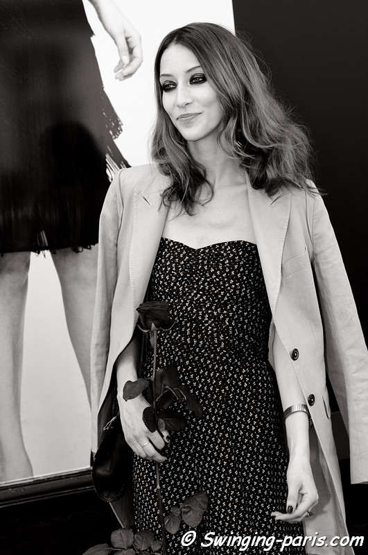 Alana Zimmer leaving Jean Paul Gaultier show, Paris Haute Couture F/W 2012 Fashion Week, July 2012