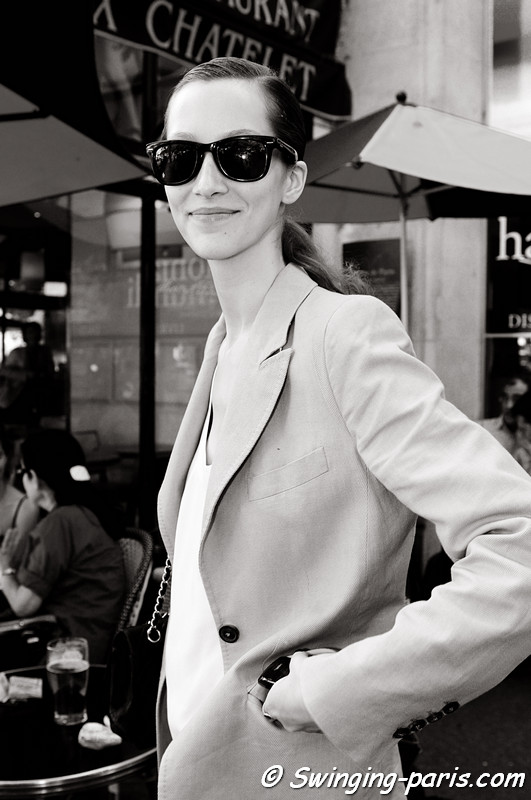 Alana Zimmer outside Alexis Mabille show, Paris Haute Couture F/W Fashion Week, July 2011