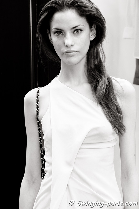 Alejandra Alonso outside Giambattista Valli show, Paris Haute Couture F/W Fashion Week, July 2011