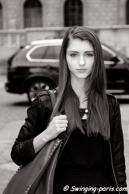 Alexandra Rudakova outside Christophe Josse show, Paris Haute Couture F/W 2013 Fashion Week, July 2013