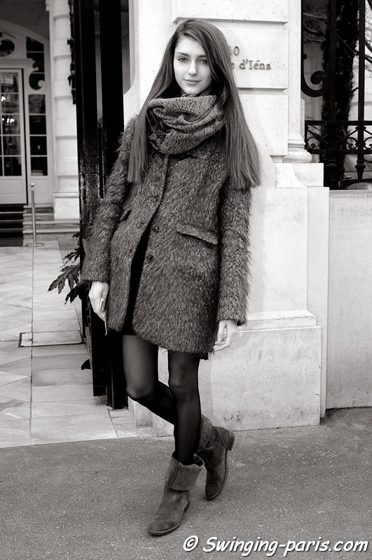 Alexandra Rudakova outside Steffie Christiaens show, Paris F/W 2013 RtW Fashion Week, February 2013