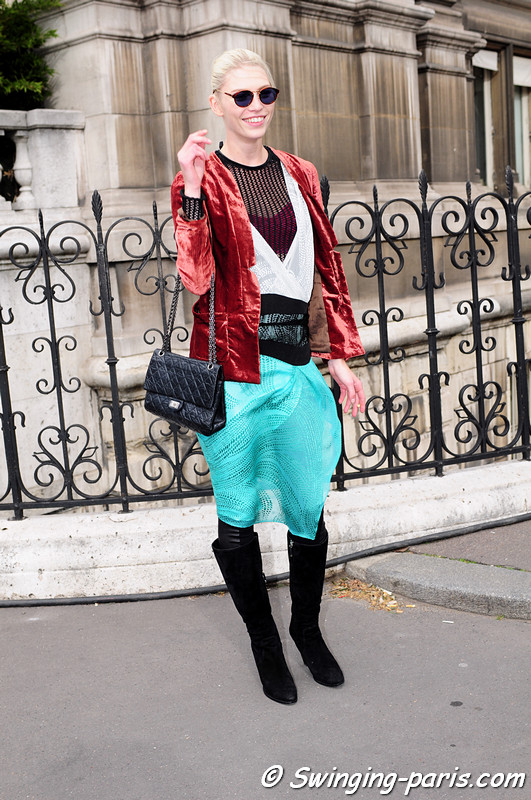 Aline Weber leaving Stella McCartney show, Paris F/W RtW 2012 Fashion Week, March 2012