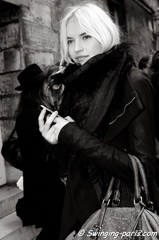 Anabela Belikova (Анабела Беликова) leaving Isabel Marant show, Paris F/W RtW 2012 Fashion Week, March 2012