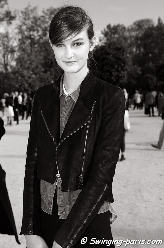 Andie Arthur outside Chloé show, Paris S/S 2013 RtW Fashion Week, October 2012