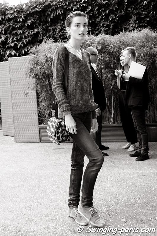 Andreea Diaconu outside Georges Hobeika show, Paris Haute Couture F/W 2012 Fashion Week, July 2012