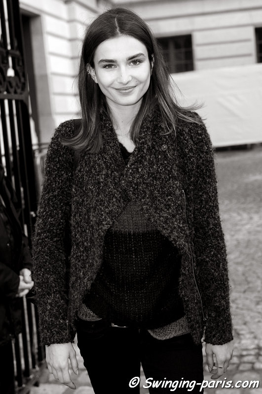 Andreea Diaconu exiting Emanuel Ungaro show, Paris F/W 2013 RtW Fashion Week, March 2013