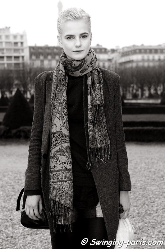 Anmari Botha leaving Christian Dior show, Paris F/W 2013 RtW Fashion Week, March 2013
