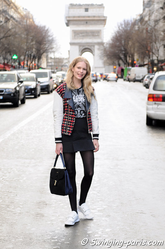 Anna Luisa Ewers leaving Sonia Rykiel show, Paris F/W 2014 RtW Fashion Week, February 2014