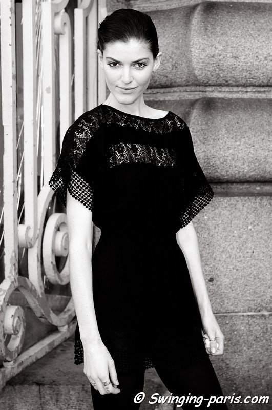 Anna Pembroke after Dévastée show, Paris S/S 2012 Fashion Week, September 2011