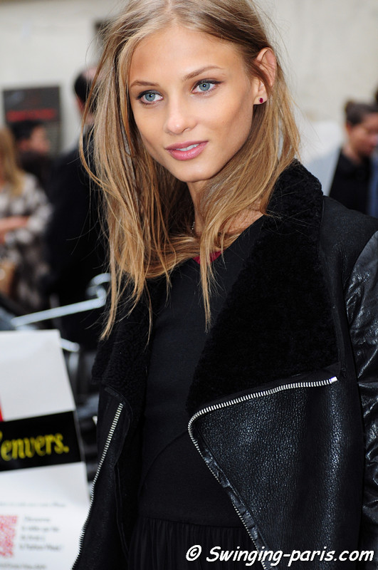 Anna Selezneva ( ) leaving Isabel Marant show, Paris F/W RtW 2012 Fashion Week, March 2012