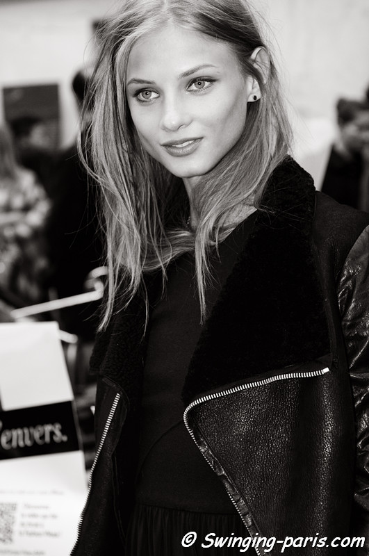 Anna Selezneva (Анна Селезнева) leaving Isabel Marant show, Paris F/W RtW 2012 Fashion Week, March 2012
