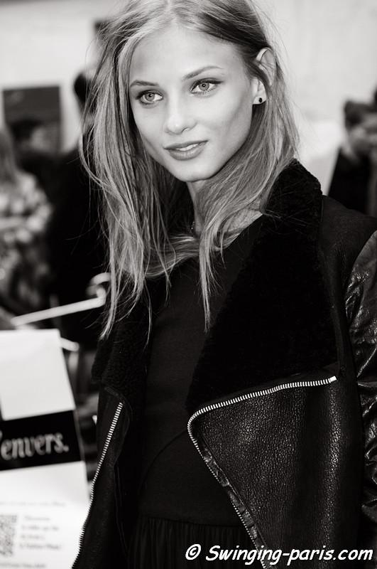 Anna Selezneva (Анна Селезнева) leaving Isabel Marant show, Paris F/W RtW 2012 Fashion Week, March 2012