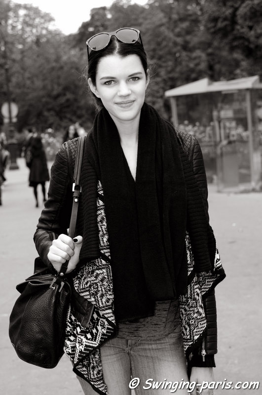 Antonia Wesseloh leaving Chanel show, Paris S/S 2014 RtW Fashion Week, October 2013