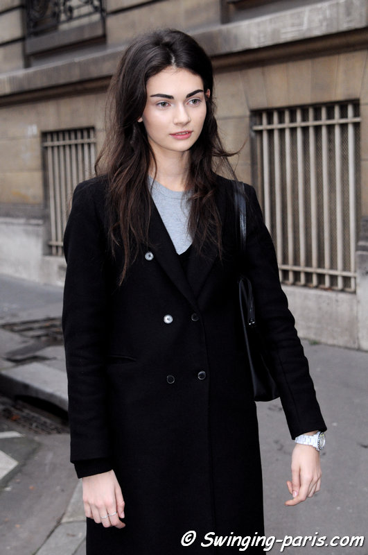 "Antonina ""Tonya"" Vasylchenko leaving Bouchra Jarrar show, Paris Haute Couture S/S 2014 Fashion Week, January 2014"