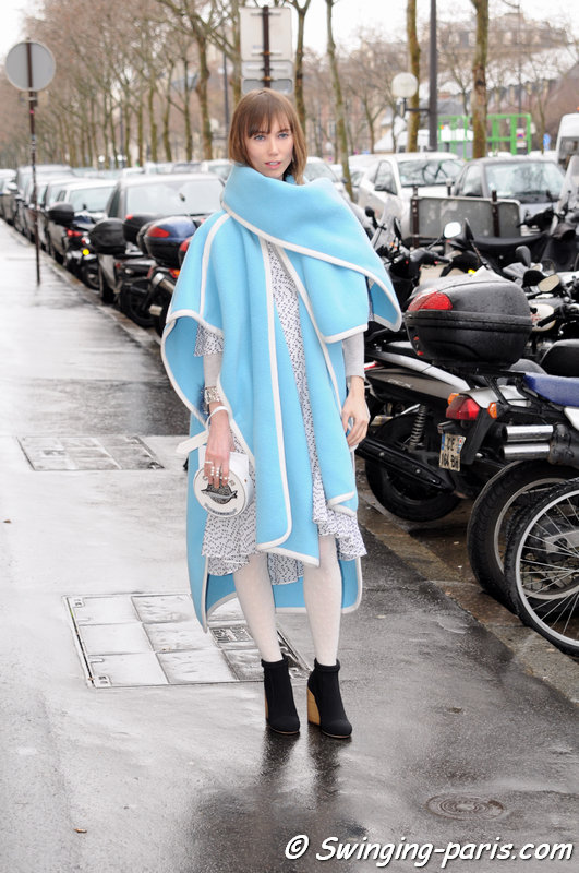 Anya Ziourova (Аня Зиоурова) outside Christian Dior show, Paris Haute Couture S/S 2014 Fashion Week, January 2014