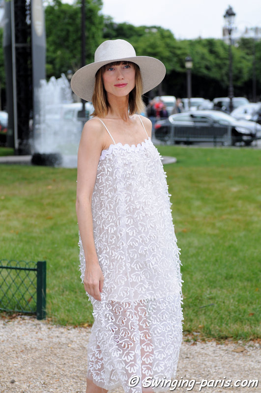 Anya Ziourova (Аня Зиоурова) outside Chanel show, Paris Haute Couture F/W 2014 Fashion Week, July 2014