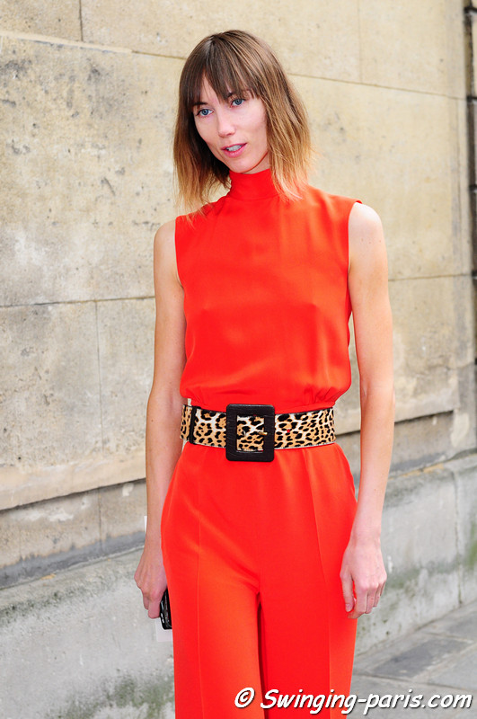 Anya Ziourova (Аня Зиоурова) before Valentino show, Paris Haute Couture F/W Fashion Week, July 2011