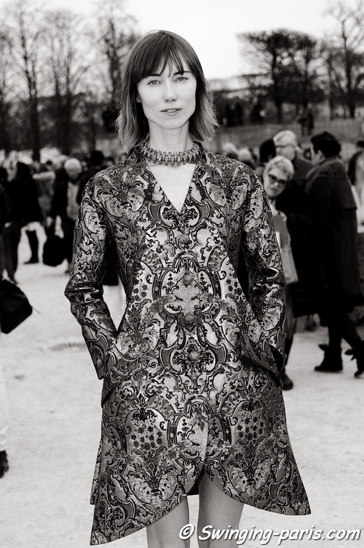Anya Ziourova (Аня Зиоурова) outside Viktor & Rolf show, Paris F/W RtW 2012 Fashion Week, March 2012
