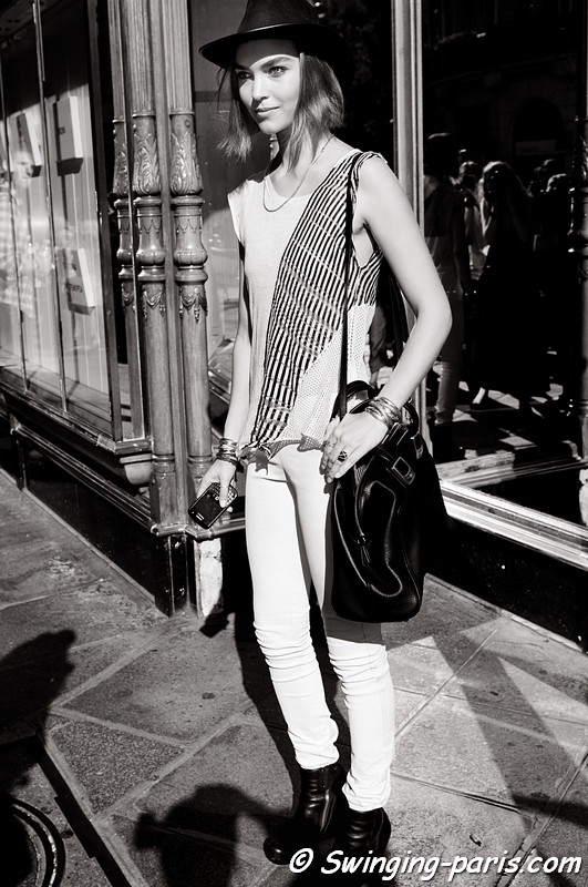 Arizona Muse after Balmain show, Paris Fashion Week S/S 2012, September 2011