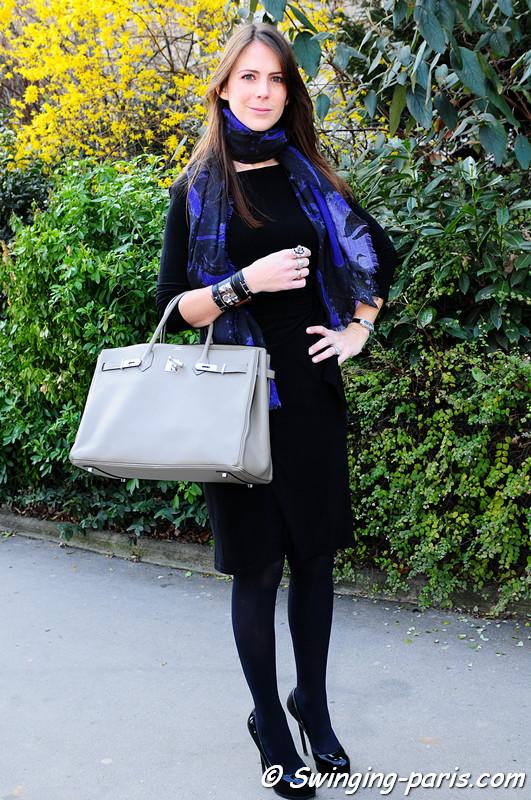 Ashley Ashoff leaving Chanel show, Paris Fashion Week, March 2011