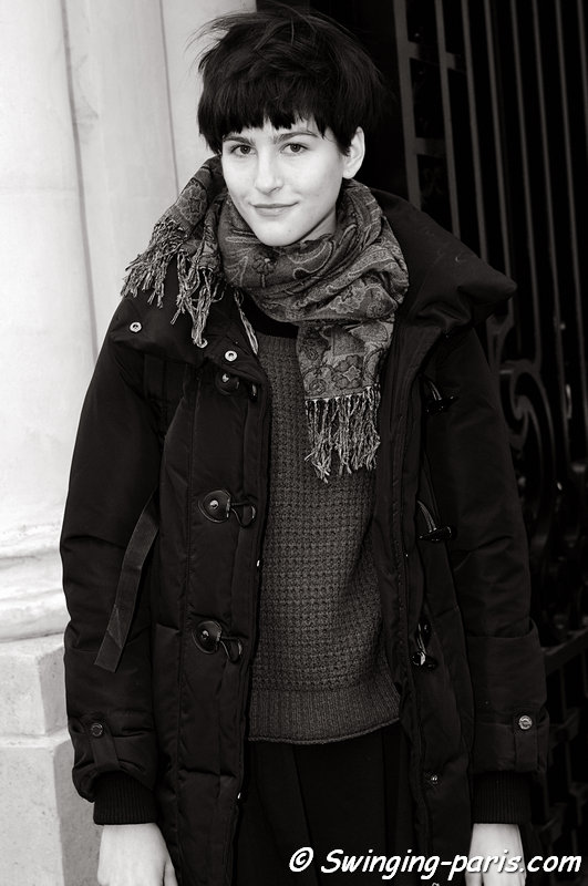Athena Wilson leaving Didit Hediprasetyo show, Paris Haute Couture S/S 2013 Fashion Week, January 2013