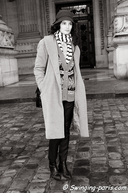 Ava Smith outside Chanel show, Paris Haute Couture S/S 2013 Fashion Week, January 2013