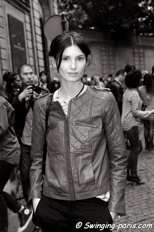 Ava Smith leaving Valentino show, Paris Haute Couture F/W 2013 Fashion Week, July 2013