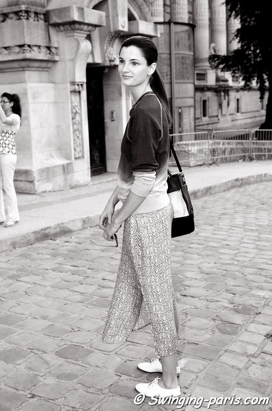 Ava Smith leaving Giambattista Valli show, Paris Haute Couture F/W 2013 Fashion Week, July 2013