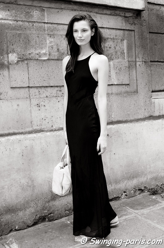 Ava Smith outside Valentino show, Paris Haute Couture F/W 2012 Fashion Week, July 2012