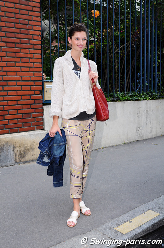 Ava Smith leaving Bouchra Jarrar show, Paris Haute Couture F/W 2012 Fashion Week, July 2012
