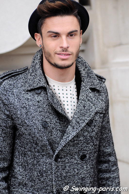 Baptiste Giabiconi leaving Chanel show, Paris Haute Couture S/S 2013 Fashion Week, January 2013