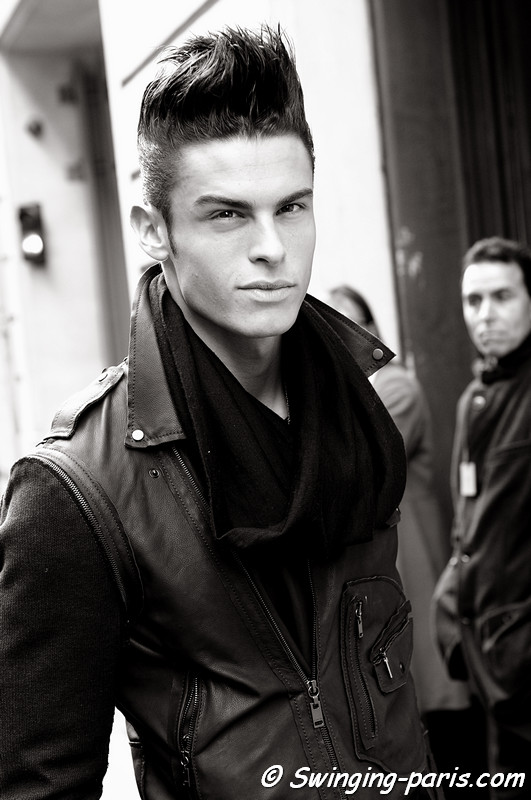Baptiste Giabiconi outside Chanel Show, Paris Fashion Week, January 2011