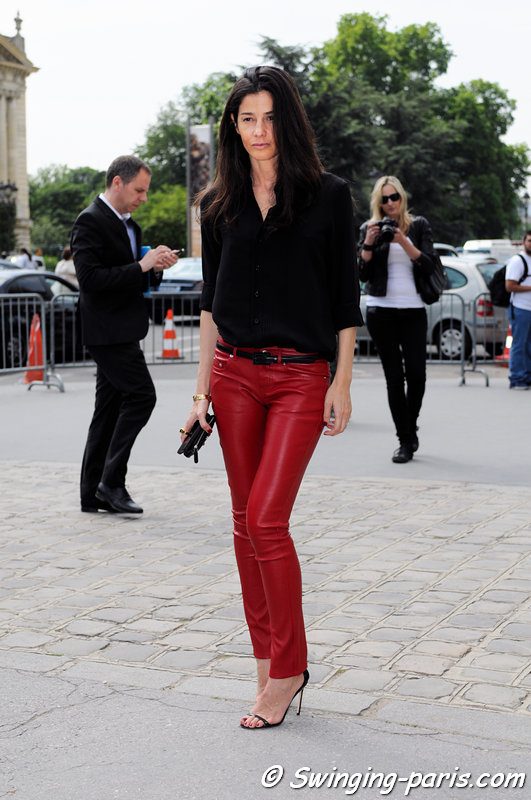 Barbara Martelo before Chanel show, Paris Haute Couture F/W 2013 Fashion Week, July 2013